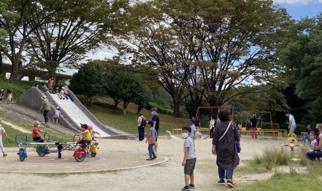 大池公園別の遊具ゾーン